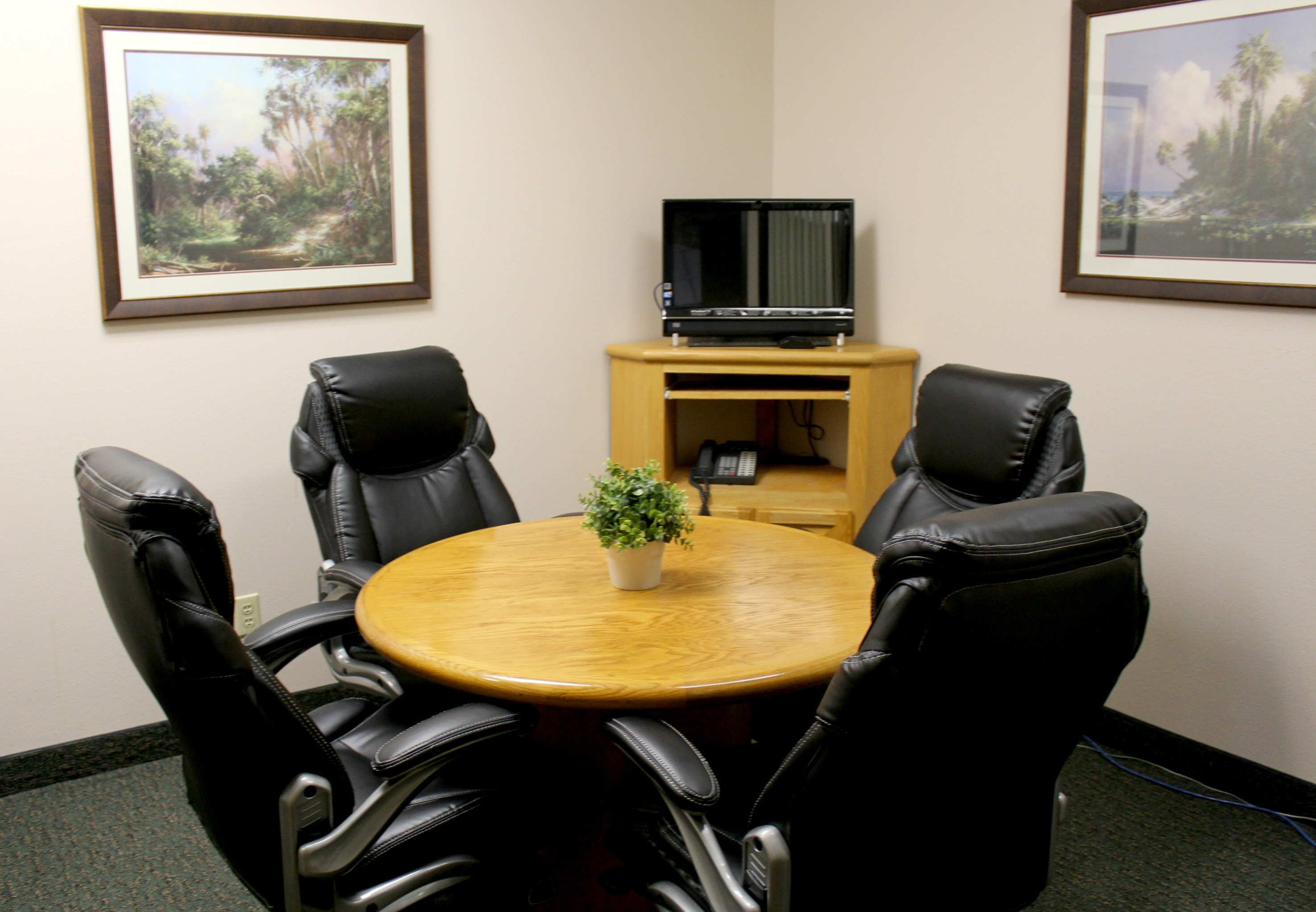 Person Conference Room Via Avalon Executive Suites - 4 person conference table